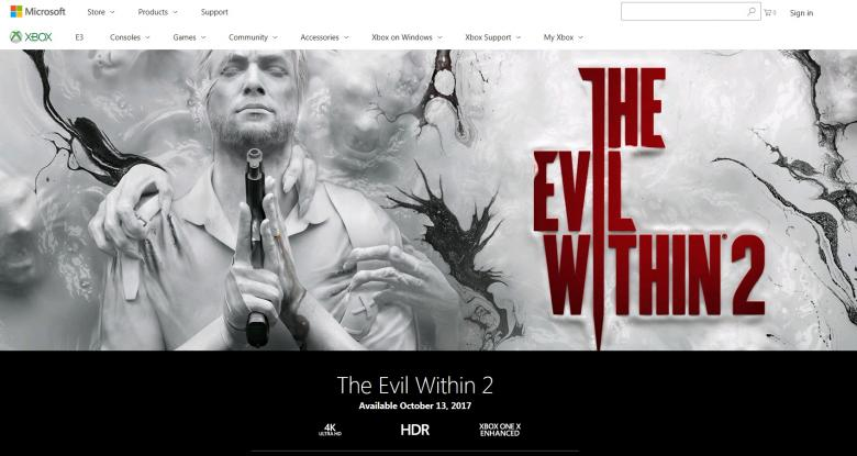 The Evil Within 2 - The Evil Within 2 тоже получит поддержку Xbox One X - screenshot 1
