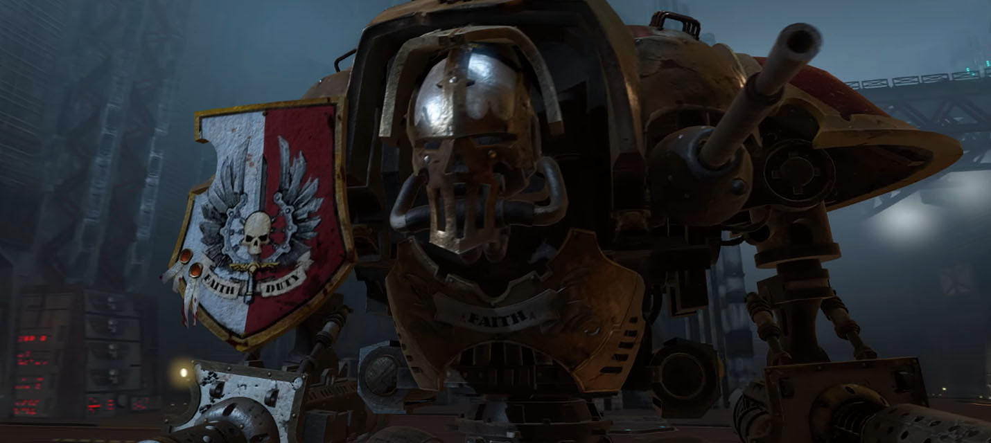 Изображение к В Warhammer 40,000: Inquisitor - Martyr можно управлять Имперским Рыцарем