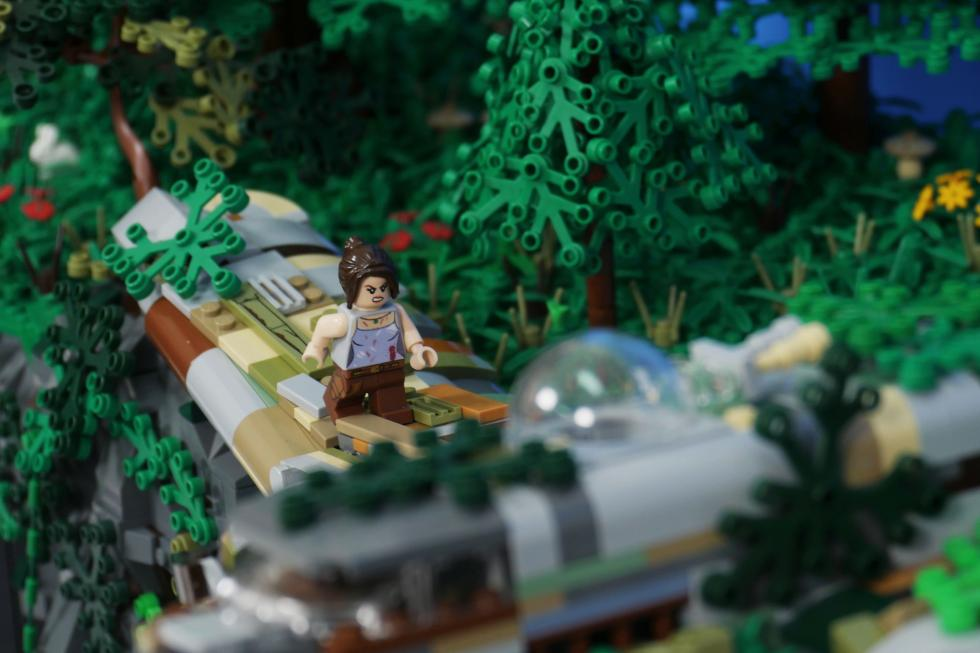 Lego - Фанат создал диораму Tomb Raider с помощью Lego - screenshot 2