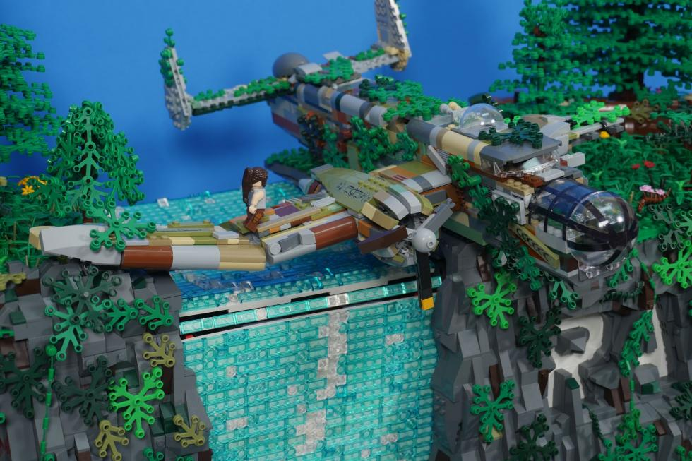 Lego - Фанат создал диораму Tomb Raider с помощью Lego - screenshot 1