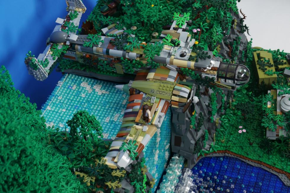 Lego - Фанат создал диораму Tomb Raider с помощью Lego - screenshot 5