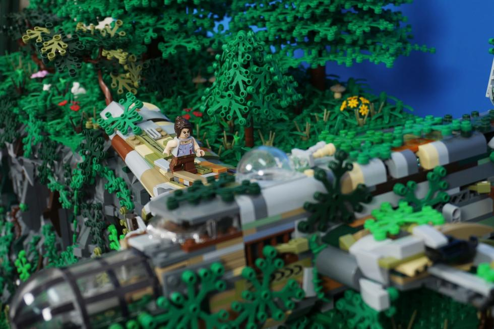 Lego - Фанат создал диораму Tomb Raider с помощью Lego - screenshot 4