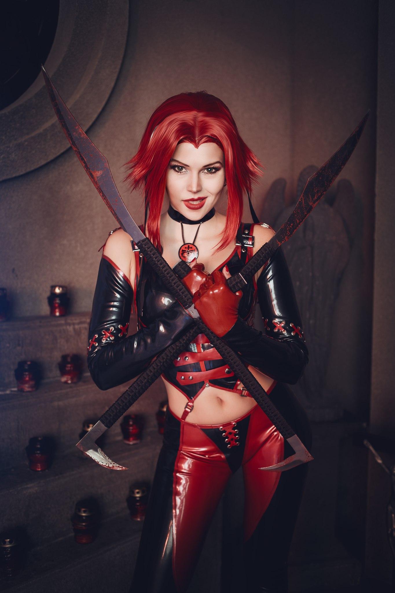 Latex models vampires nude clip