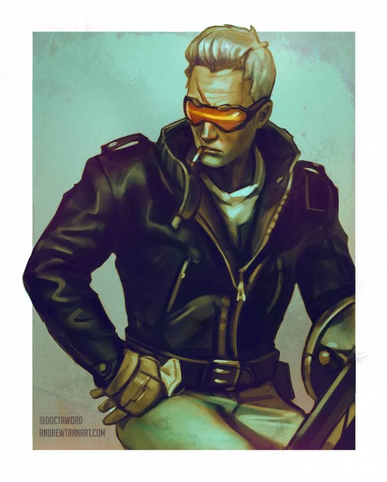 Герои Overwatch в стиле 50-х Годов