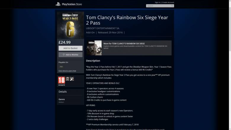 Rainbow Six: Siege - Второй сезонный пропуск для Rainbow Six: Siege уже доступен в PS Store - screenshot 1