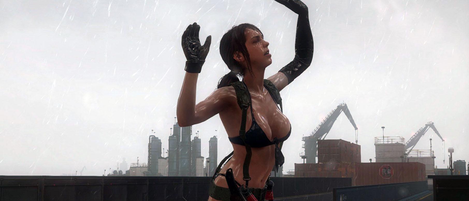 Metal Gear Solid V: The Phantom Pain - Сцена с Тихоней под дождем :: Rampaga